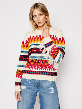 My Twin My Twin Sweter 202MP3220 Beżowy Loose Fit