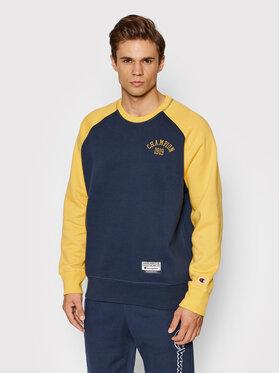 Champion Champion Sweatshirt Collegiate Logo Colour Block 216913 Dunkelblau Custom Fit
