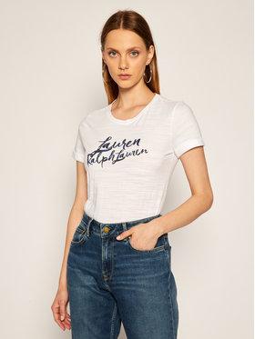 Lauren Ralph Lauren Lauren Ralph Lauren Tricou Knt 200800396001 Alb Regular Fit
