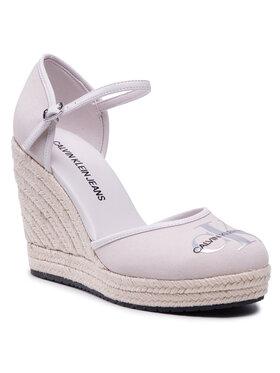 Calvin Klein Jeans Calvin Klein Jeans Espadrilky Wedge Sandal Close Toe Co YW0YW00150 Béžová