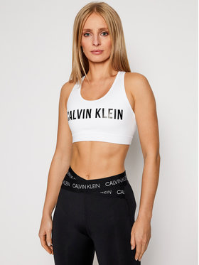 Calvin Klein Performance Calvin Klein Performance Reggiseno top Medium Support 00GWF0K157 Bianco