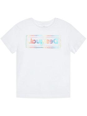 Desigual Desigual T-Shirt Viena 21SGTK19 Bílá Regular Fit