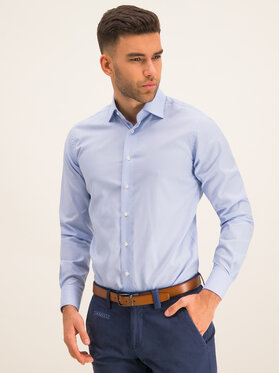 Emanuel Berg Emanuel Berg Marškiniai MCR37 Mėlyna Modern Fit