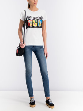 LOVE MOSCHINO LOVE MOSCHINO T-Shirt W4F7347M 3517 Biały Regular Fit
