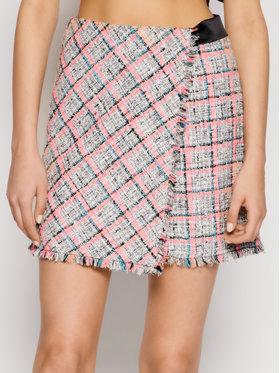 KARL LAGERFELD KARL LAGERFELD Mini sukňa Summer Boucle 211W1204 Sivá Regular Fit