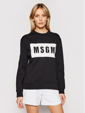 MSGM MSGM Mikina 3041MDM96 217299 Čierna Regular Fit