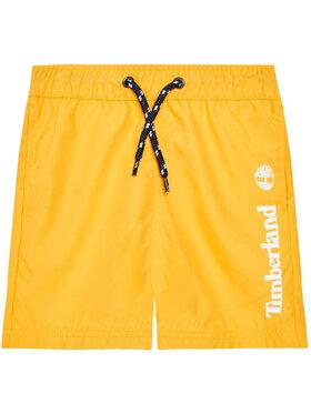 Timberland Timberland Plavecké šortky T24B44 S Žlutá Regular Fit