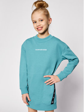 Calvin Klein Jeans Calvin Klein Jeans Ежедневна рокля Monogram Tape IG0IG00710 Син Regular Fit