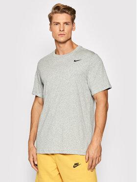 Nike Nike T-Shirt Dri-FIT Tee Crew Solid AR6029 Grau Regular Fit