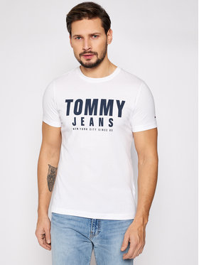 Tommy Jeans Tommy Jeans Tričko Tjm Center Chest Graphic DM0DM10243 Biela Regular Fit