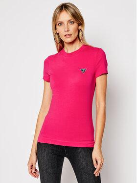 Guess Guess T-shirt W1RI04 J1311 Ružičasta Slim Fit