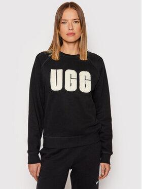 Ugg Ugg Світшот Madeline Fuzzy Logo 1123718 Чорний Regular Fit