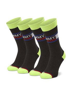Tommy Jeans Tommy Jeans Sada 2 párů vysokých ponožek unisex 100000398 Černá