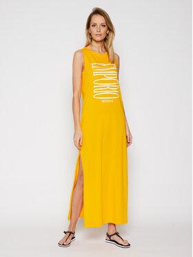 Emporio Armani Emporio Armani Плажна рокля EMPORIO ARMANI 262635 1P340 15362 Жълт Regular Fit
