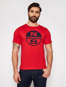 North Sails North Sails T-Shirt Graphic 692689 Rot Regular Fit