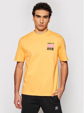 adidas adidas Тишърт Adventure Mountain Back Print GN2349 Оранжев Regular Fit