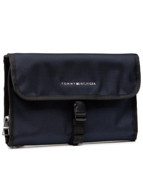 Tommy Hilfiger Tommy Hilfiger Geantă pentru cosmetice Elevated Travel Washbag AM0AM06926 Bleumarin