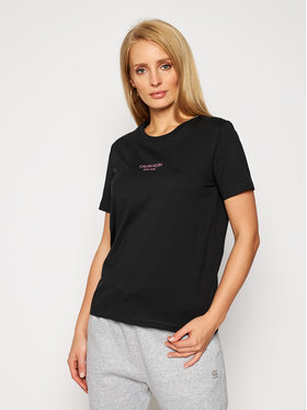 Calvin Klein Calvin Klein Тишърт Print Logo K20K202364 Черен Regular Fit