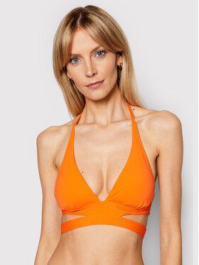 Seafolly Seafolly Bikinio viršus Active Halter 30645-058 Oranžinė