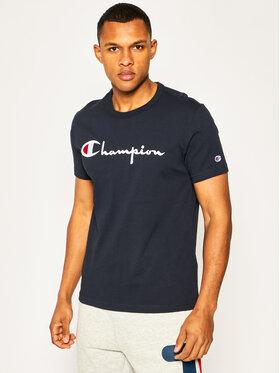 Champion Champion T-Shirt Embroidered Script Logo 210972 Tmavomodrá Regular Fit