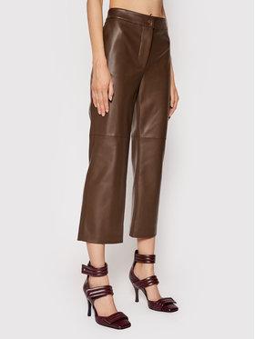 Liviana Conti Liviana Conti Pantalon en simili cuir F1WT29 Marron Regular Fit
