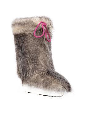 Moon Boot Moon Boot Kožešinový návlek na obuv Cover Opossum 140C0V01001 Hnědá
