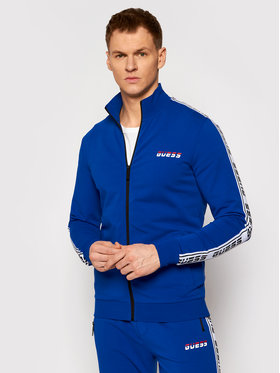 Guess Guess Bluza U0BA33 K6XF0 Niebieski Regular Fit