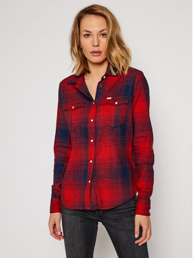 Lee Lee Camicia Western L45SGBOE Rosso Regular Fit