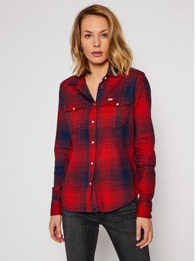 Lee Lee Marškiniai Western L45SGBOE Raudona Regular Fit