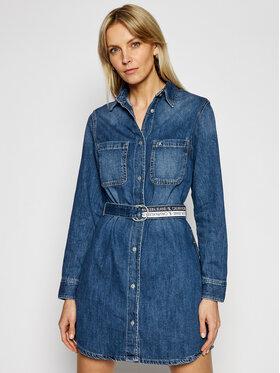 Calvin Klein Jeans Calvin Klein Jeans Sukienka jeansowa J20J215442 Niebieski Loose Fit