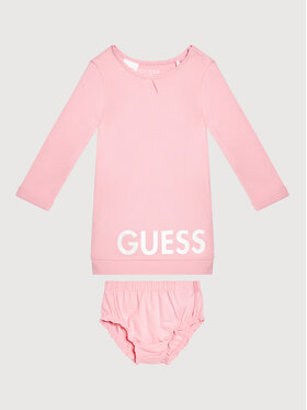 Guess Guess Sukienka codzienna A1YK08 KA6W0 Różowy Regular Fit