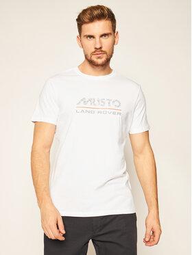 Musto Musto Marškinėliai Logo 84008 Balta Regular Fit
