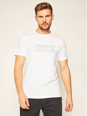 Musto Musto Tricou Logo 84008 Alb Regular Fit