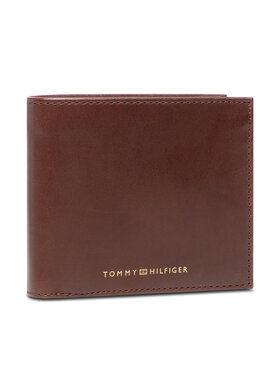 Tommy Hilfiger Tommy Hilfiger Duży Portfel Męski Casual Leather Cc And Coin AM0AM07814 Brązowy