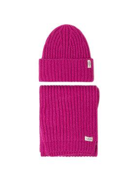 Ugg Ugg Kepurės ir šaliko komplektas K Rab Kint Hat And Scarf Set 18874 Rožinė