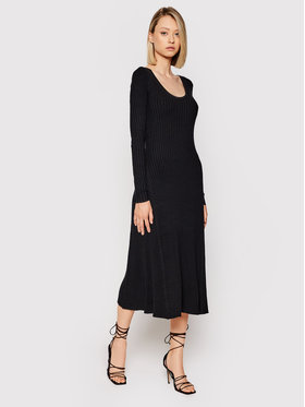 Samsøe Samsøe Samsøe Samsøe Úpletové šaty Hazel F21200009 Černá Slim Fit
