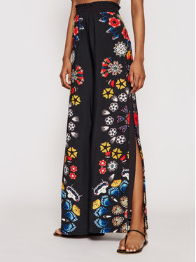 Desigual Desigual Текстилни панталони Chipre 21SWMW26 Черен Loose Fit