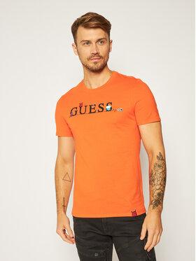 Guess Guess T-Shirt Monster M0YI48 I3Z00 Pomarańczowy Slim Fit
