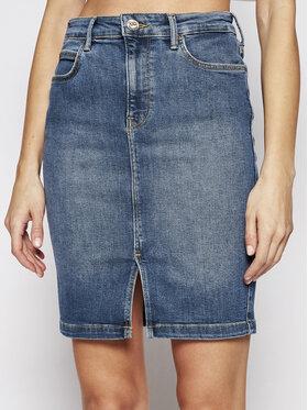 Lee Lee Spódnica jeansowa Pencil L38GQDTO Granatowy Slim Fit