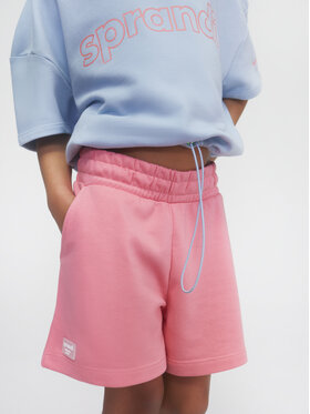 Sprandi Sprandi Pantaloni scurți sport SS21-SHG002 Roz Regular Fit