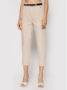 Rinascimento Rinascimento Текстилни панталони CFC0103571003 Бежов Regular Fit