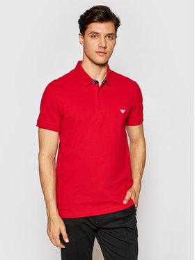 Emporio Armani Emporio Armani Тениска с яка и копчета 211804 1P461 06574 Червен Regular Fit