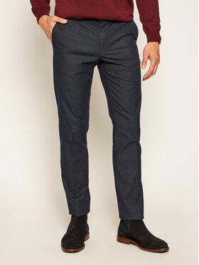 Tommy Hilfiger Tommy Hilfiger Pantaloni di tessuto Denton Chino Yarn MW0MW13579 Blu scuro Straight Fit
