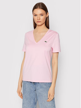 Lacoste Lacoste Тишърт TF8392 Розов Relaxed Fit