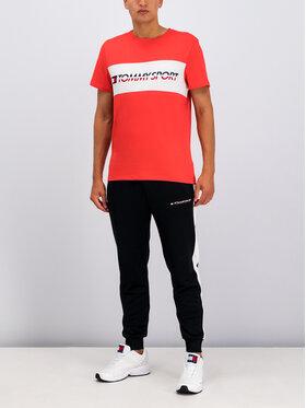 Tommy Sport Tommy Sport Marškinėliai Logo S20S200082 Rožinė Regular Fit