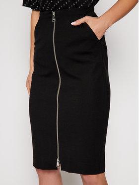 KARL LAGERFELD KARL LAGERFELD Puzdrová sukňa Punto 206W1203 Čierna Slim Fit