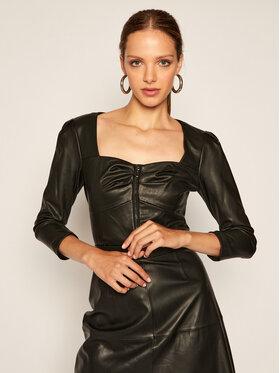 Guess Guess Veste en simili cuir Fleur W0YN40 WBG60 Noir Slim Fit