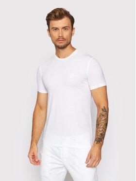 Trussardi Trussardi T-Shirt 52T00535 Biały Slim Fit