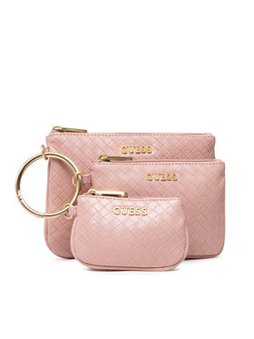 Guess Guess Set di pochette per cosmetici Emelyn Accessories PWEMEL P1306 Rosa