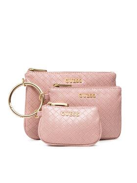 Guess Guess Σετ τσαντάκια καλλυντικών Emelyn Accessories PWEMEL P1306 Ροζ